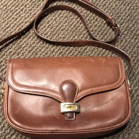 8a6c0de9743 Gucci Handbags - VINTAGE Gucci Leather Purse